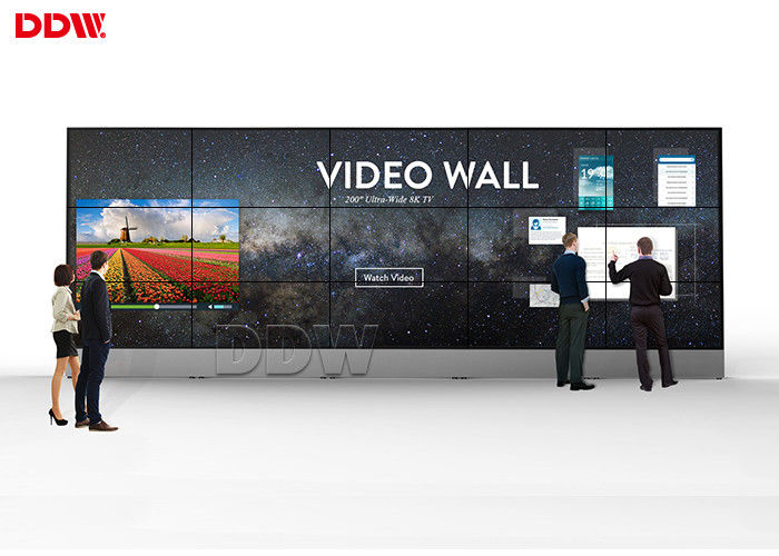 Indoor Interactive Touch Screen Video Wall , TFT 55 Video Wall Display
