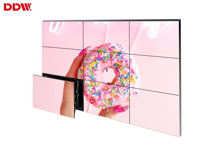 Fashionable Large DDW LCD Video Wall Display Screen Flexible Structure Design