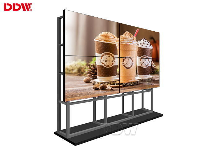 Multi Screen DDW LCD Video Wall For Advertising 1073.8 × 604 Mm Active Area