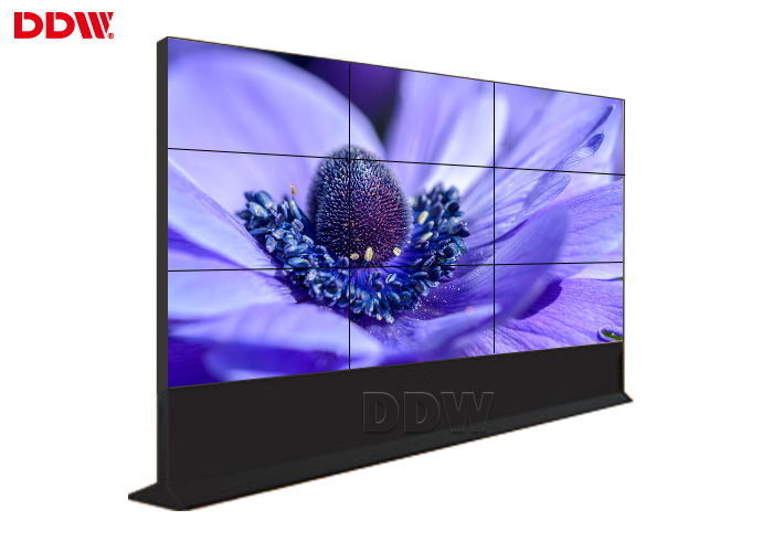 Rich Color Video Display Screen / Floor Standing Outdoor LCD Video Wall