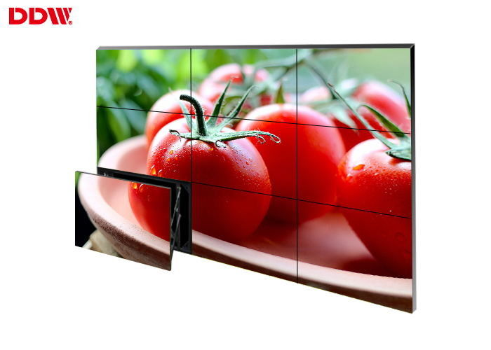 Frameless Interactive Touch Screen Video Wall , Horizontal 46 LCD Video Wall Display